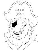 Piratas. Dibujos para colorear. Caretas