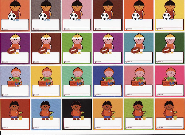 Distintivos de nombres para niños de preescolar - Imagui
