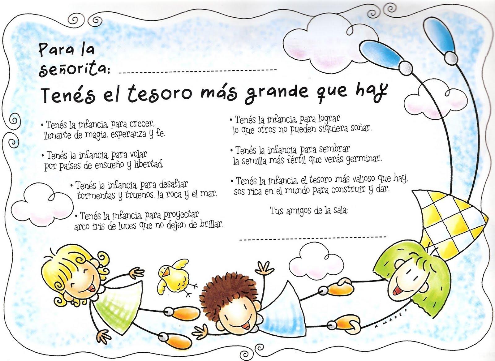 El rincon de la infancia mayo 04 2010 for Cancion de bienvenida al jardin