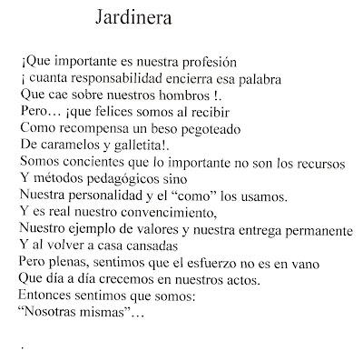 EL RINCON DE LA MAESTRA JARDINERA