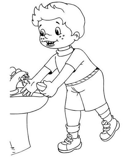 Dibujos para colorear de un niño lavando su carro - Imagui