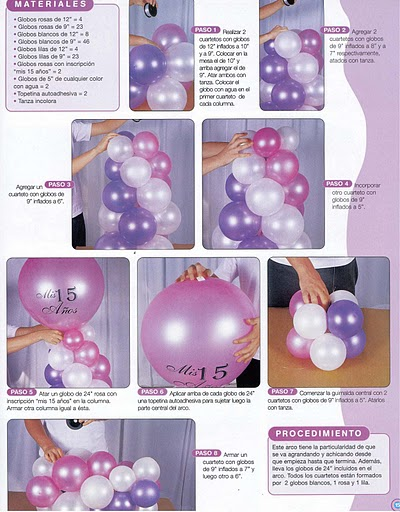 Decoración con globos para 15 años ♥
