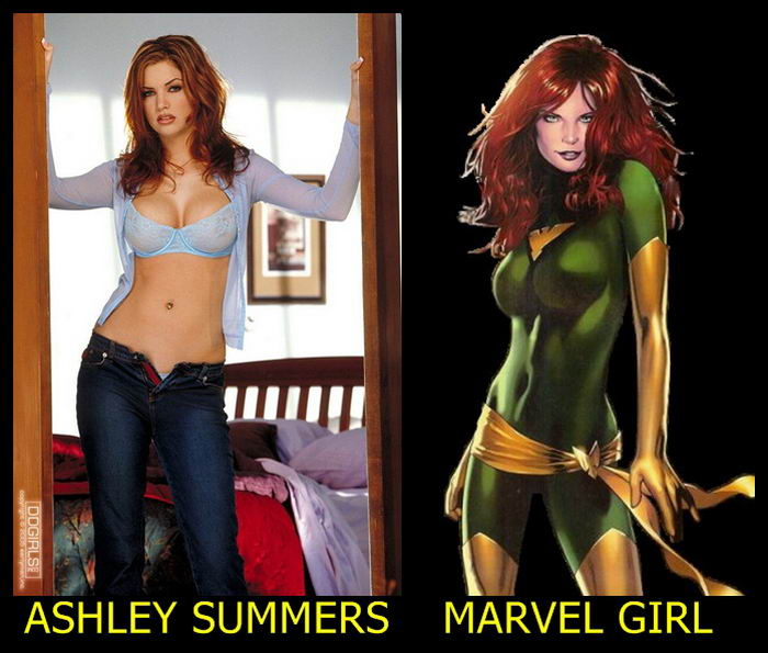 Ashley Summers como Marvel Girl