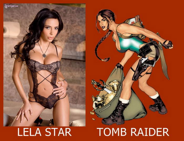 Lela Star como Lara Croft