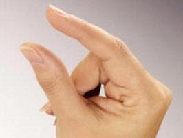 mans finger