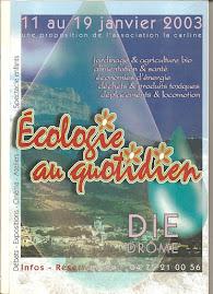 """Affiche """"Rencontres de l'Ecologie"""" 2003"""