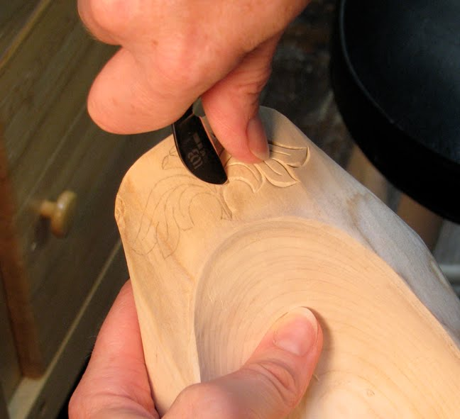 The village carpenter tips on chip carving