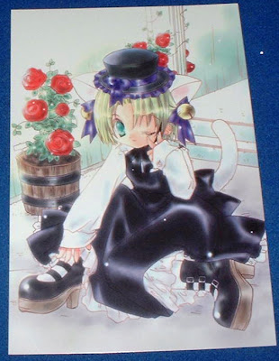... but it is the RIGHT one, like this Gothic Loli postcard I got yesterday ...