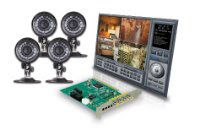 Lorex QLR0444 4-Port PCI Video Card Security System with 4 Cameras (Color)