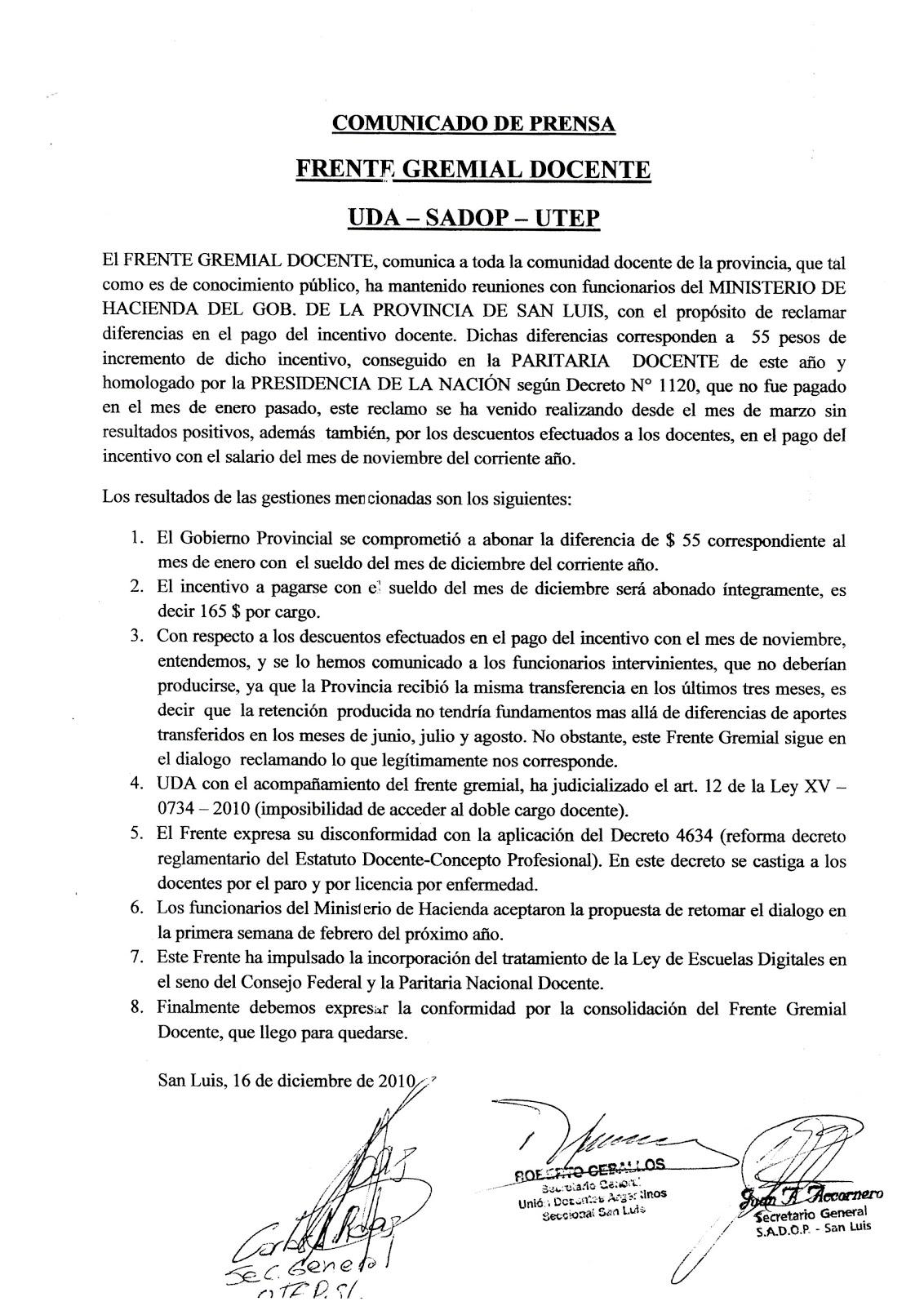 NOTICIAS DE EDUCACION DE LA PROVINCIA DE SAN LUIS - Argentina: 12/01 ...