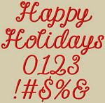 Happy Holidays Font