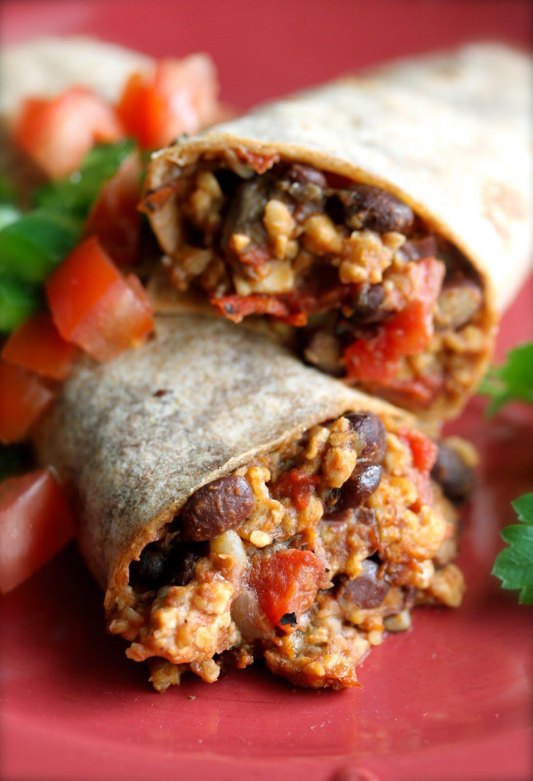 Smith's Vegan Kitchen: Tempeh and Black Bean Burritos
