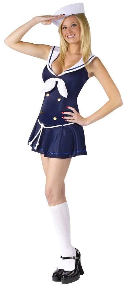 Womens Sultry Sailor Girl Costume  sc 1 st  christina hendricks & Sultry Sailor Halloween Costume - Fredericku0027s of Hollywood ...