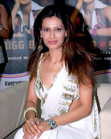 Actress Payal Rohatgi in White Saree