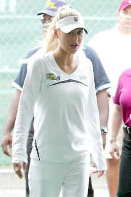 Anna Kournikova in White Dress