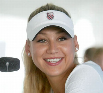 anna kournikova tennis. Anna Kournikova Photo in White