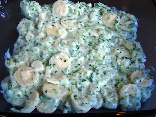 Creamy Shrimp Casserole with Hearts of Palm About 2 cups of raw shrimp