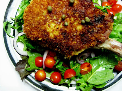 Pork Chop Milanese with Arugula Salad - Joanne Eats Well With Others