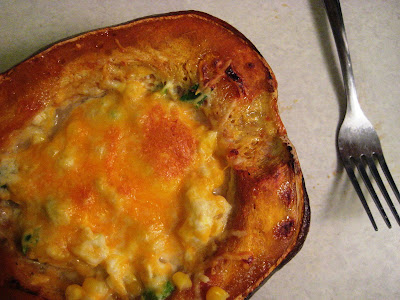 12 Weeks of Winter Squash - Roasted Corn Pudding in Acorn Squash Cups ...