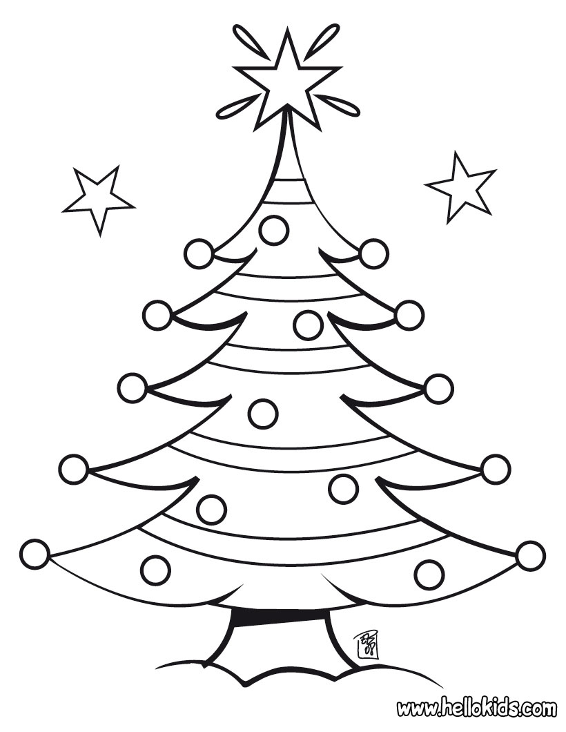 Christmas Coloring Pages For Toddlers Free : Christmas tree coloring pages free printable pictures
