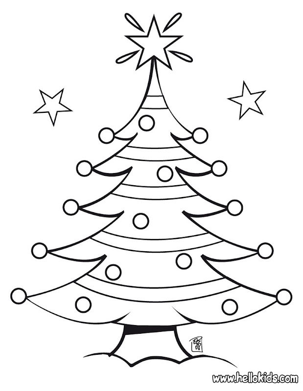 christmas tree coloring pages christmas tree coloring pages christmas  title=