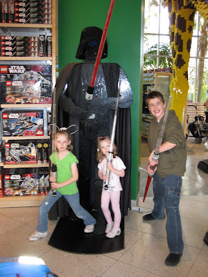Downtown Disney - Kids at the Lego store