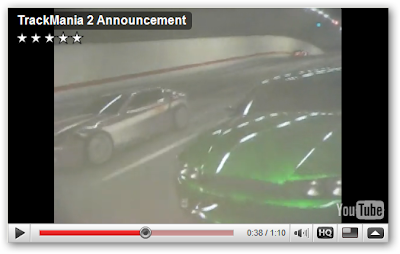 TrackMania 2 screnshot from user video taken at Paris Gaming Festival