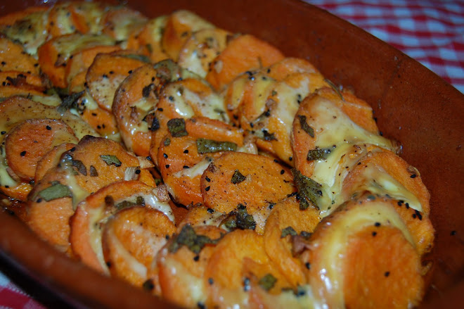 Garlicy Sweet Potatoes