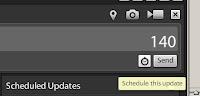 schedule twitter update