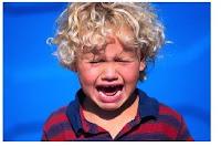 Childs temper tantrum