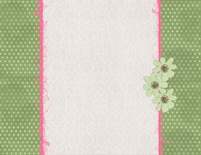 Background Bloggers; Custom Blog Designs: Pink/Green Daisy