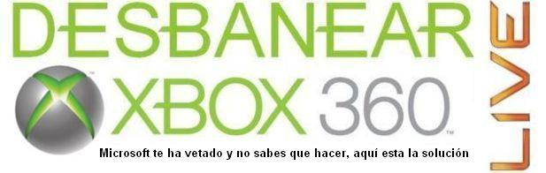 DESBANEAR XBOX 360