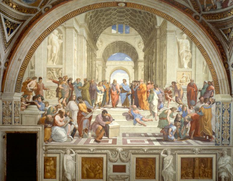 Saló d'art del Fòrum les pintures preferides! La-escuela-de-atenas-rafael-sanzio