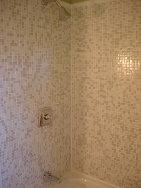 mosaic tile bathroom remodel