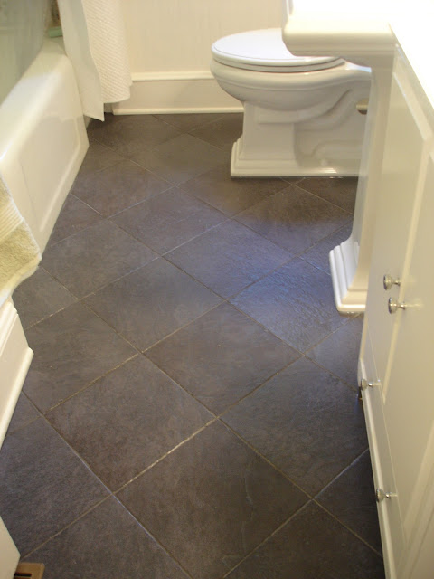 Black slate tiles Bathroom makeover