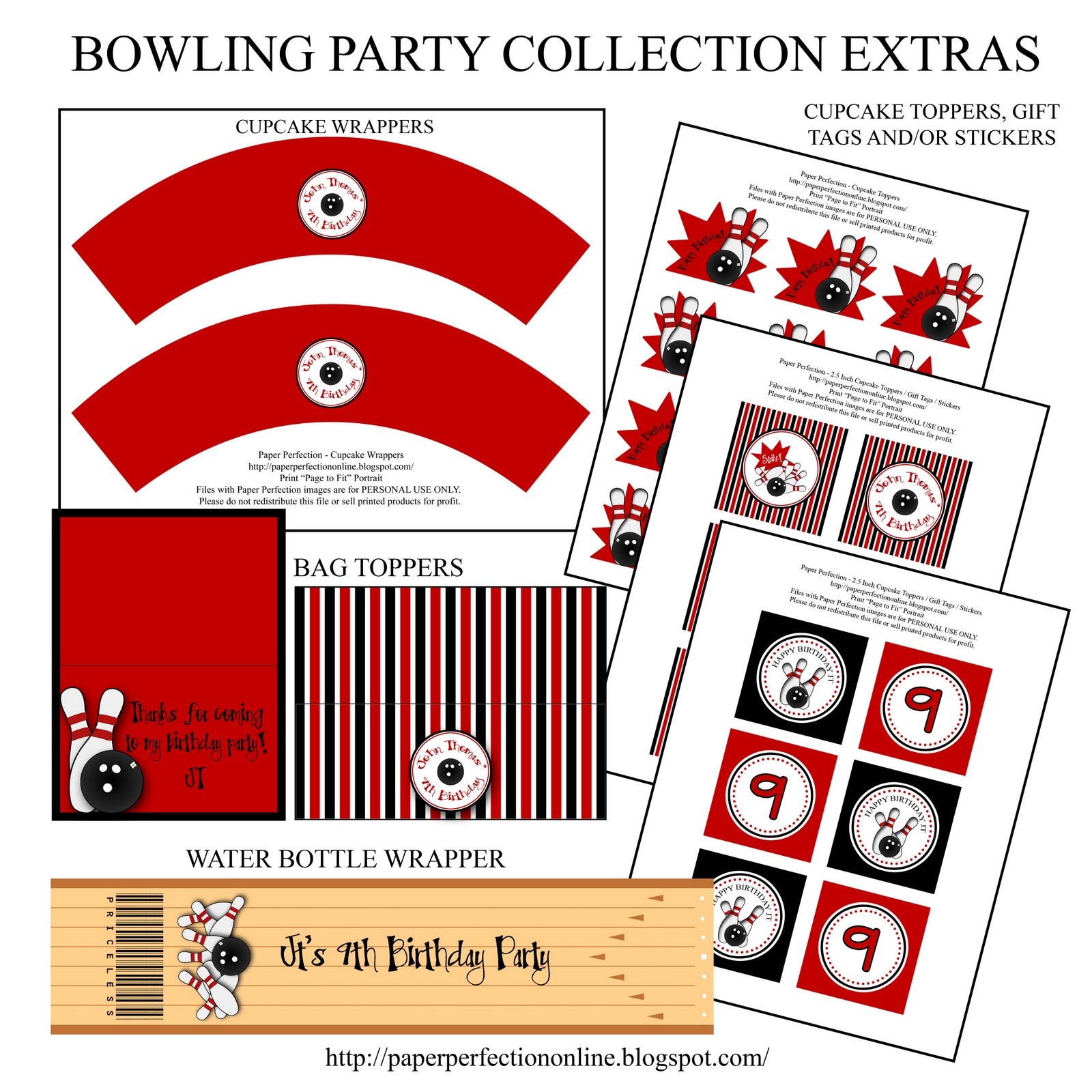 Paper Perfection Bowling Party Printables