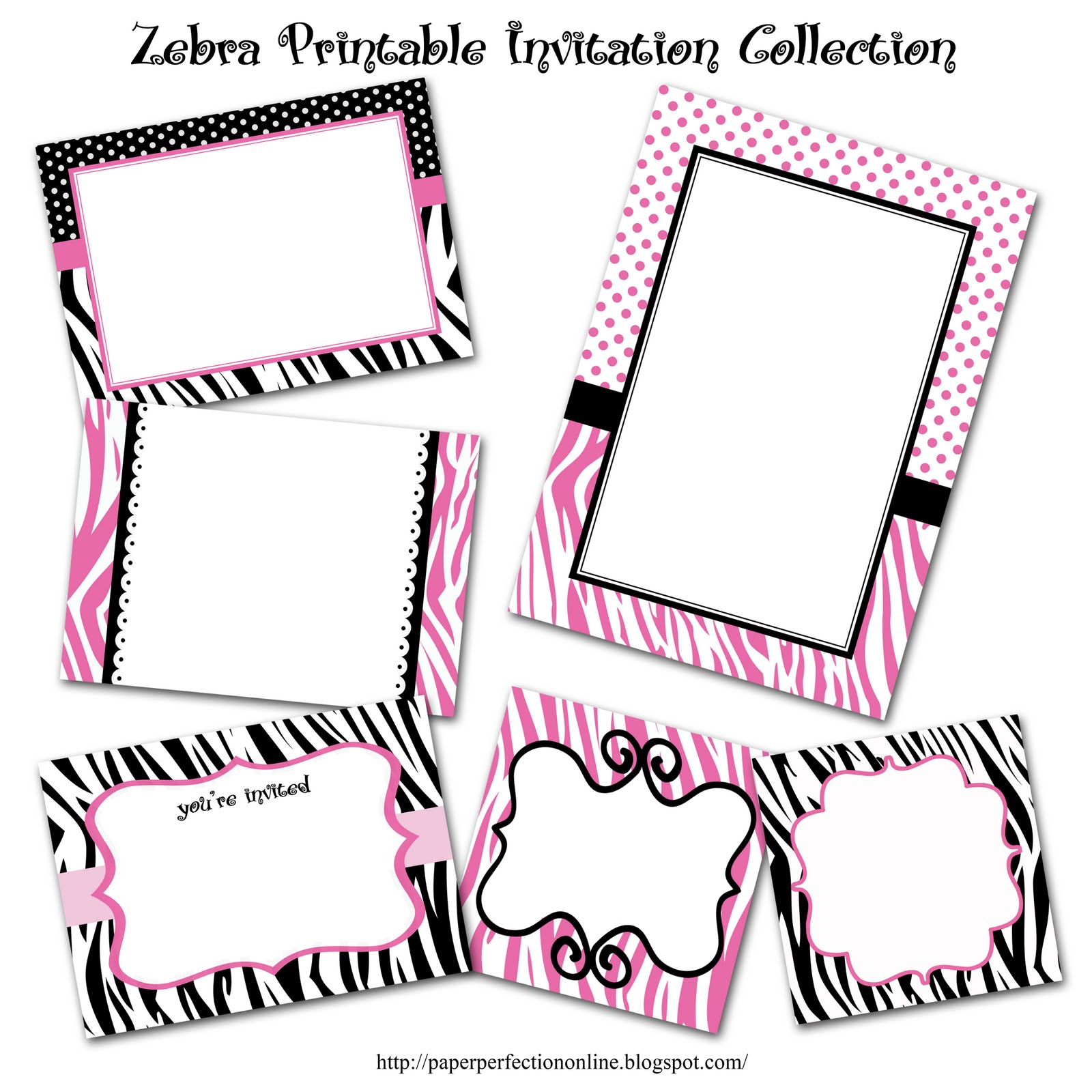 graphic relating to Printable Contact Paper titled Paper Perfection: Zebra Print Bash Printables