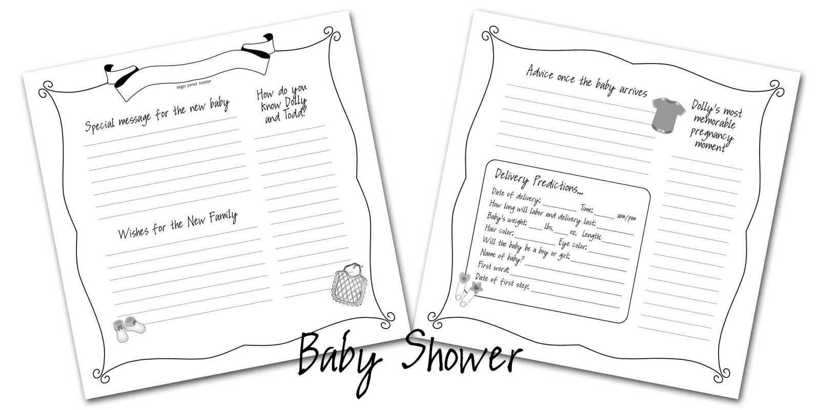 Baby Shower Guest Book Template