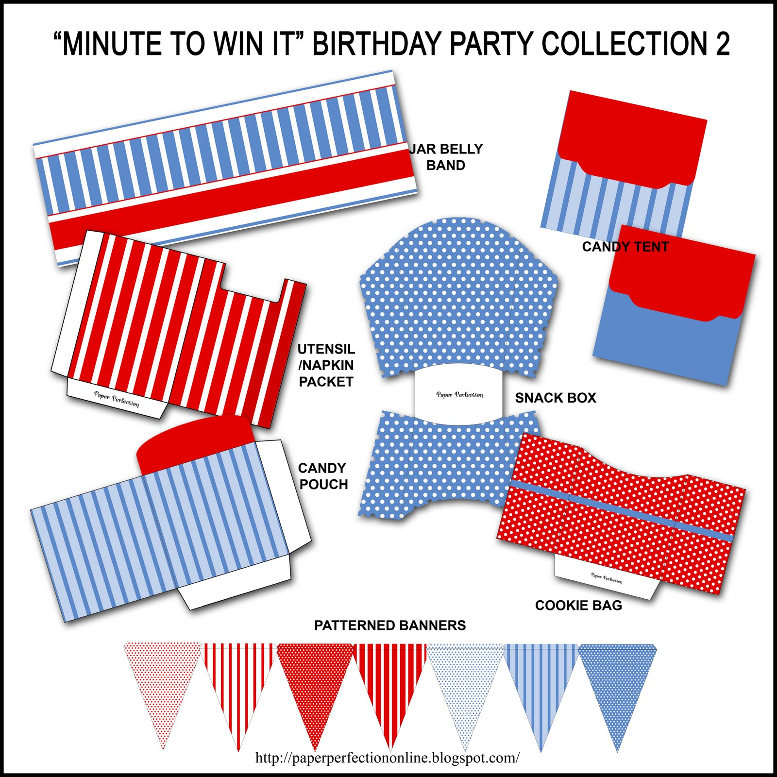 Paper Perfection Free Minute To Win It Birthday Party Invitation