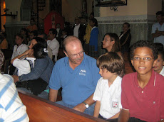 Larry at Church with William & Josh