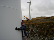 Wind turbine hugging