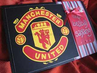 Handmade Manchester United birthday card