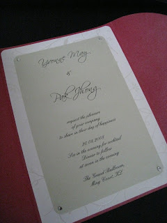 oriental wedding invitation