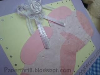 Baby booties newborn card