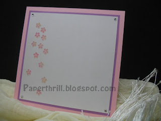 Sweet floral wedding card