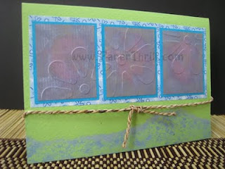Summer loving embossed handmade birthday card