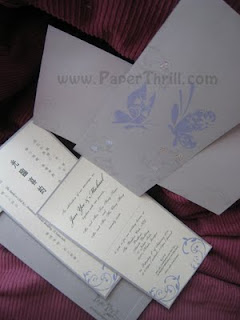 Butterfly handmade wedding invitation