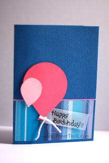 Birthday balloons handmade pop up card