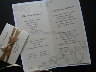 Vintage gold band wedding invitation