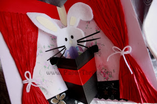 Popup Magic rabbit card